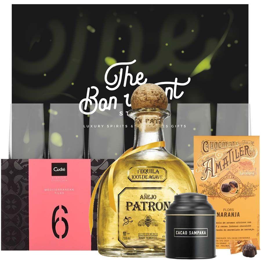 Regalo Tequila El Patrón Añejo 1L