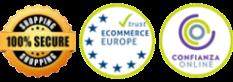 Garantia 100%. SSL encryption. Ecommerce Europe.